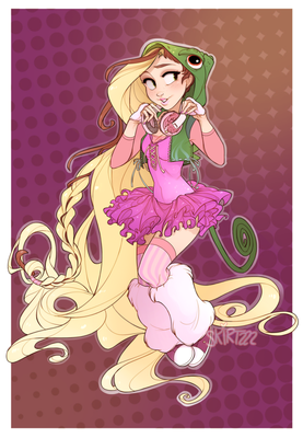 Raver Rapunzel by Skirtzzz