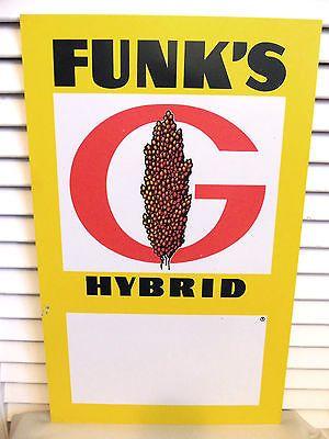 vintage farm sign funk family barley funks feed seed ag funk s g