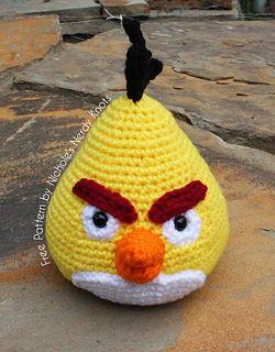 Chuck The Angry Bird Pattern By Nicholes Nerdy Knots Amigurumi