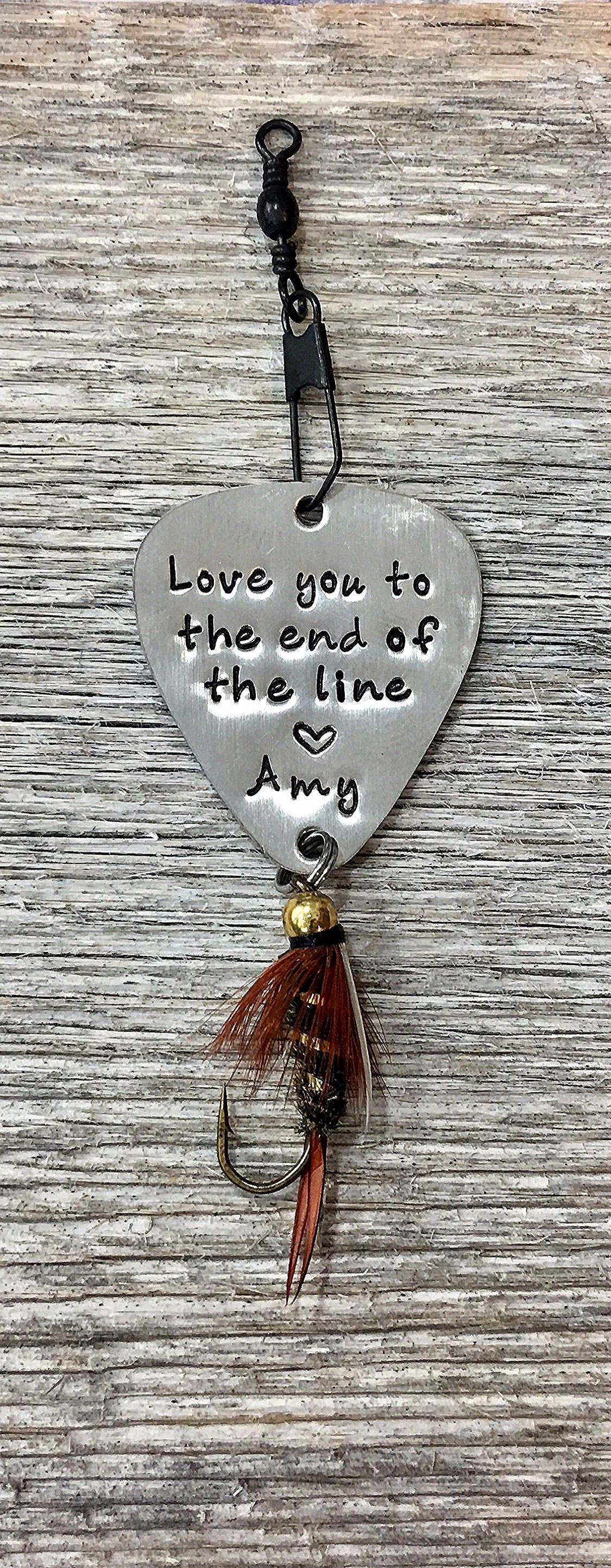 Gifts For Men, Personalized Fly Fishing Lure, Anniversary Gift For Him, Valentin…