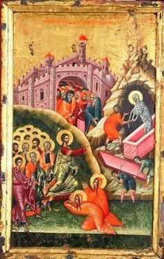 korca. The Resurrection of Lazarus. 16th c. Onoufrios of Neokastro (Onufri