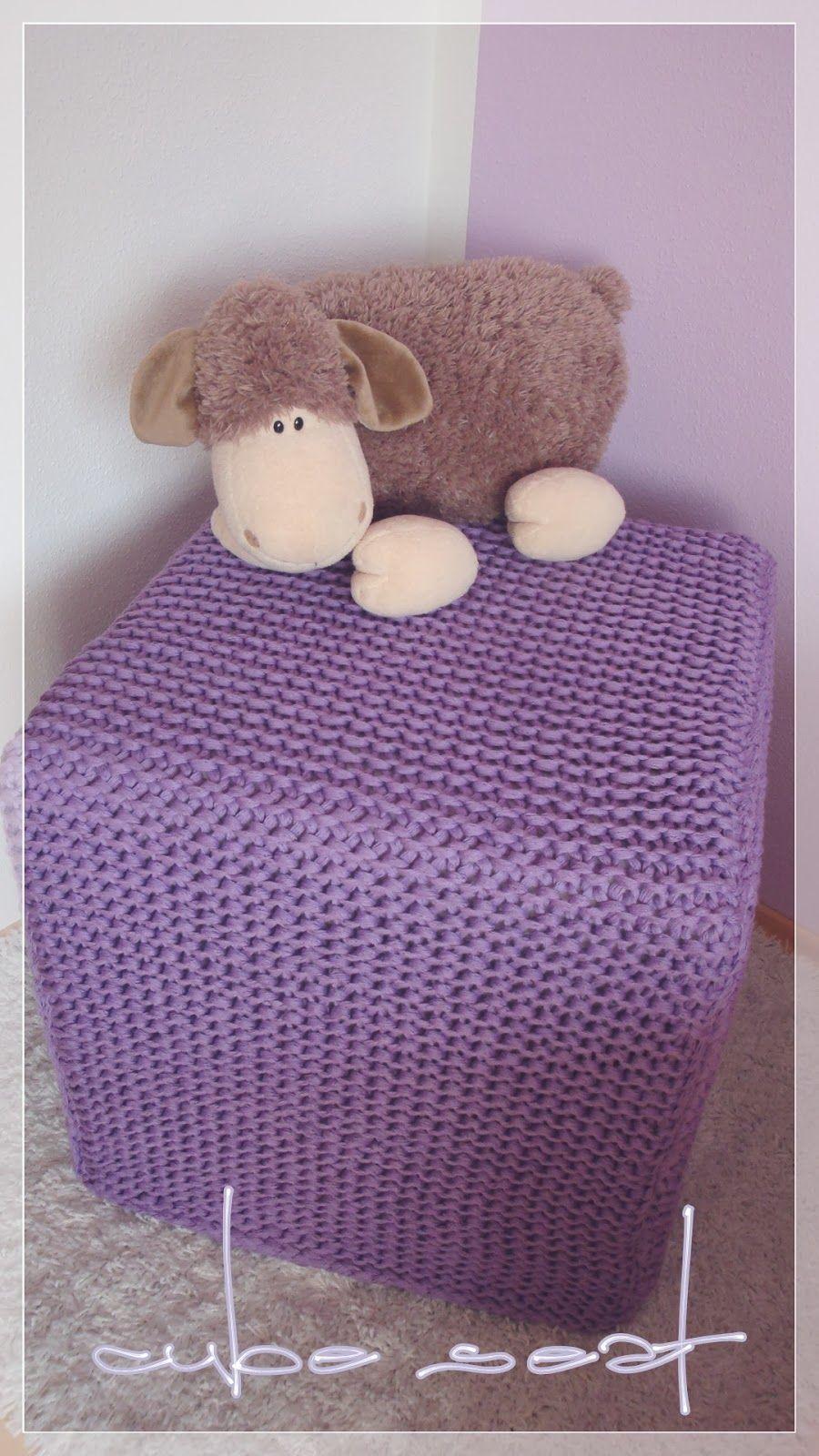cube seat strickideen. Black Bedroom Furniture Sets. Home Design Ideas