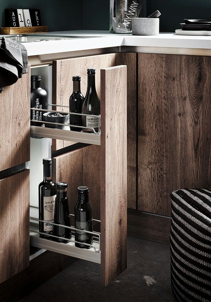 TORONTO GL Alteiche-cognac Neuheit 2018 #häcker #häckerküchen - küche holz modern