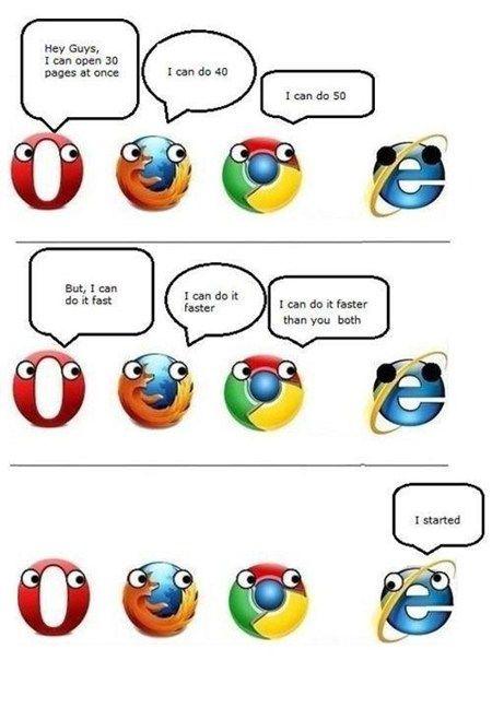 Fun Times With Internet Explorer Internet Funny Internet Explorer Jokes Geek Humor