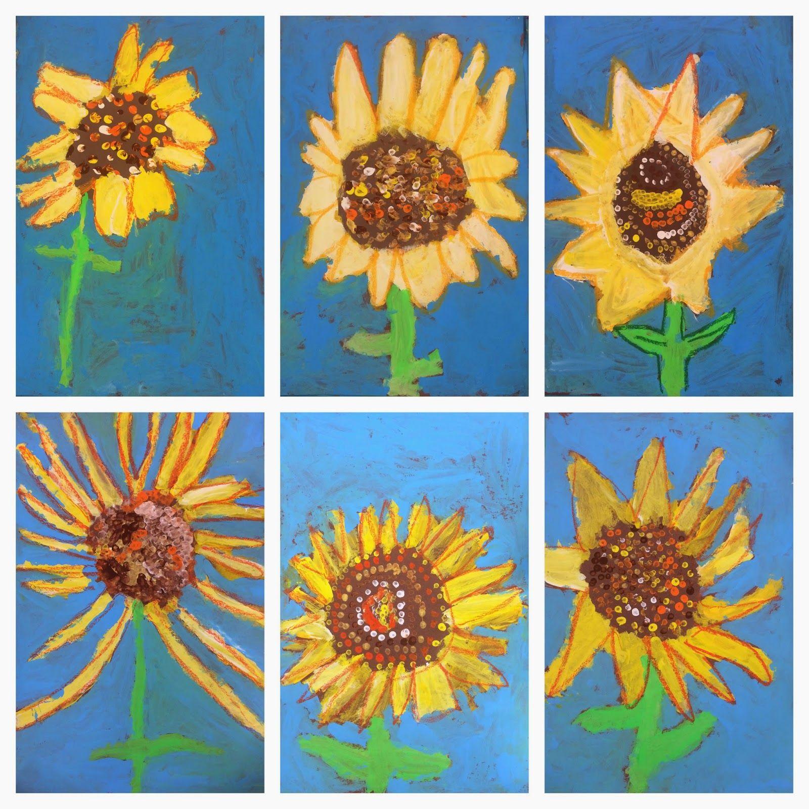 Exploring Art Elementary Art 1st Grade Sunflowers