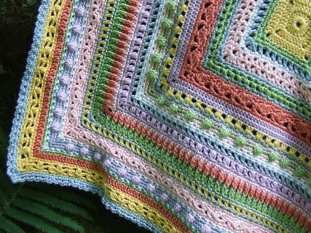 Ravelry Project Gallery For Faeries Baby Sampler Afghan Pattern By