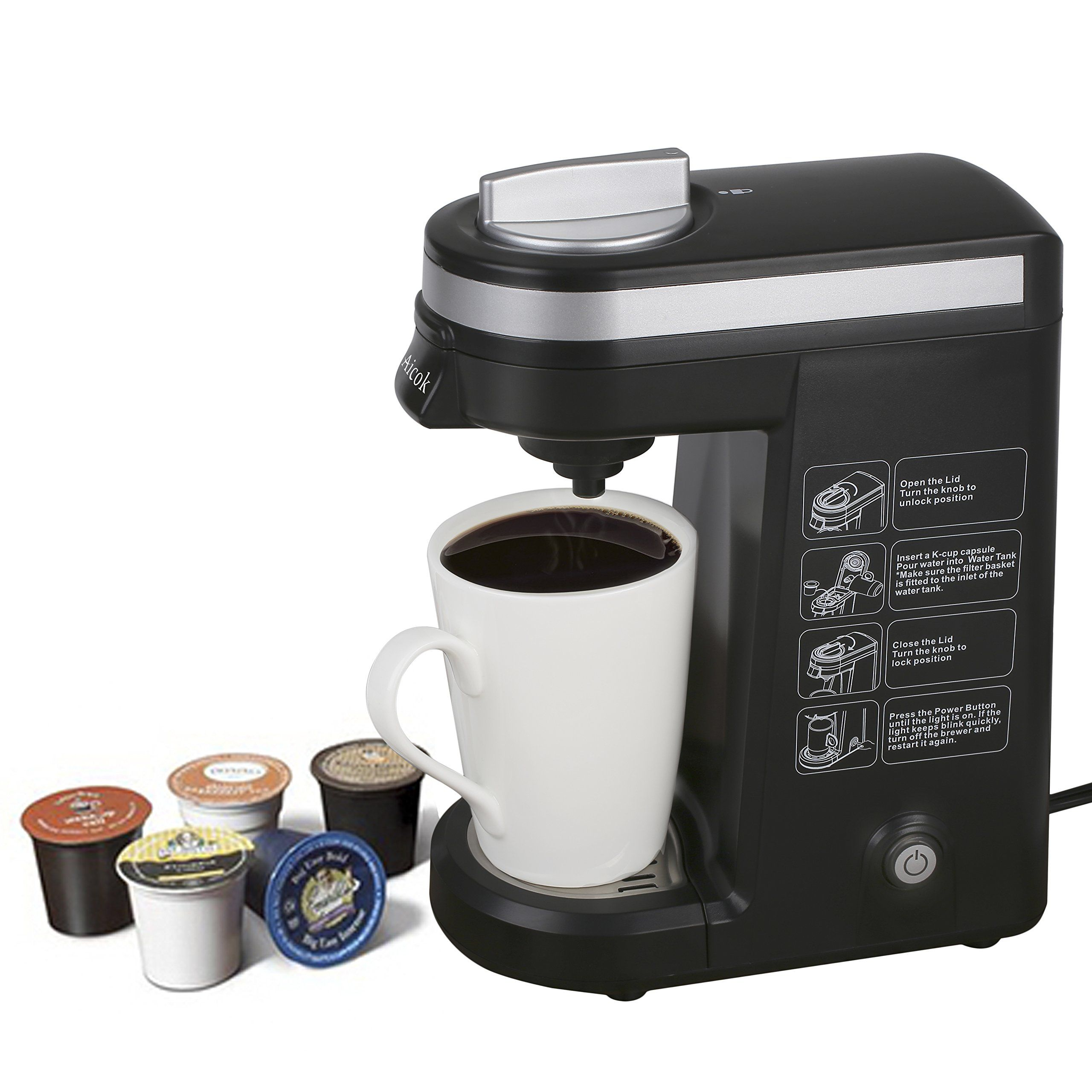 Aicok K Cup Coffeemaker Compact Single Serve Coffee Brewer Wish