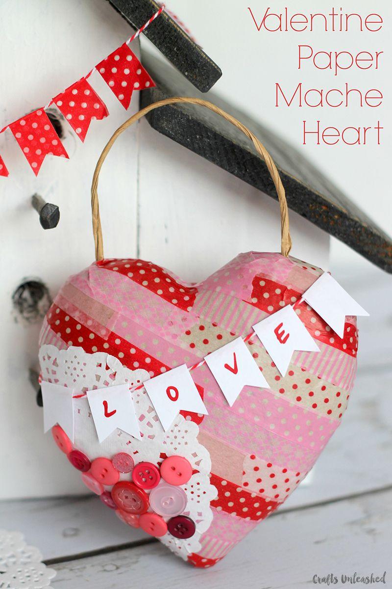 Valentine S Day Craft Paper Mache Heart Crafts Unleashed