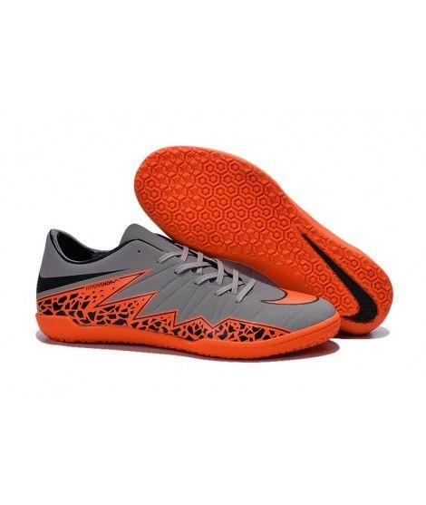 c51b71511b946d Nike Hypervenom Phelon II IC SÁLOVÁ Muži Kopačky Grey Oranžový Černá Soccer  Cleats