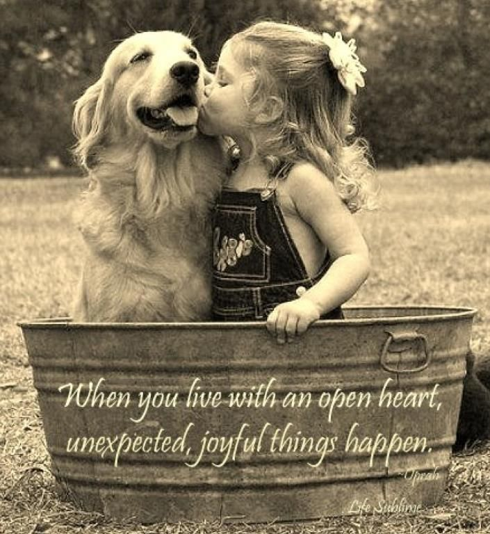 """""""When you live with an open heart,  unexpected, joyful things happen."""""""