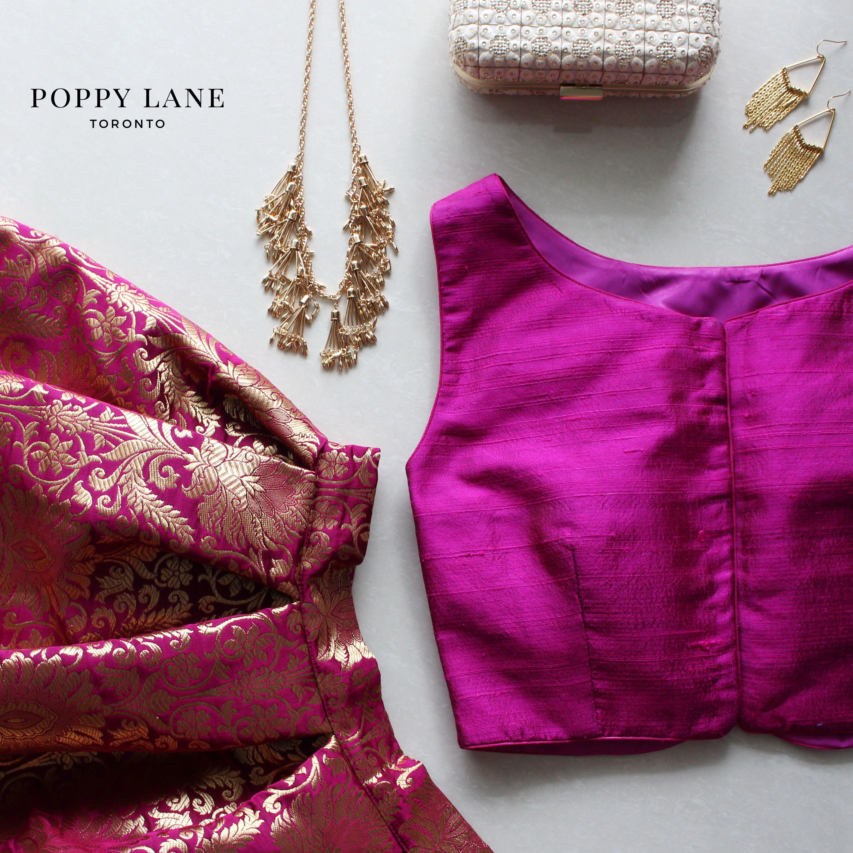 cf33ff5f069b7 Simple Raw Silk Purple Blouses - Shop now at poppylane.ca