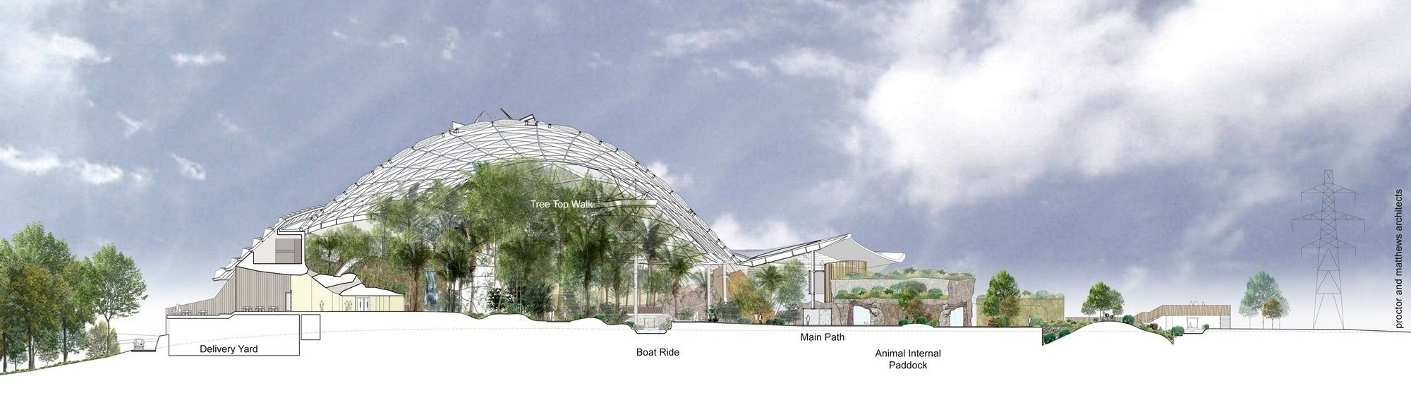A 225 Million Redevelopment Of Chester Zoo Featuring A Biodome - Heart-of-africa-biodome-at-chester-zoo