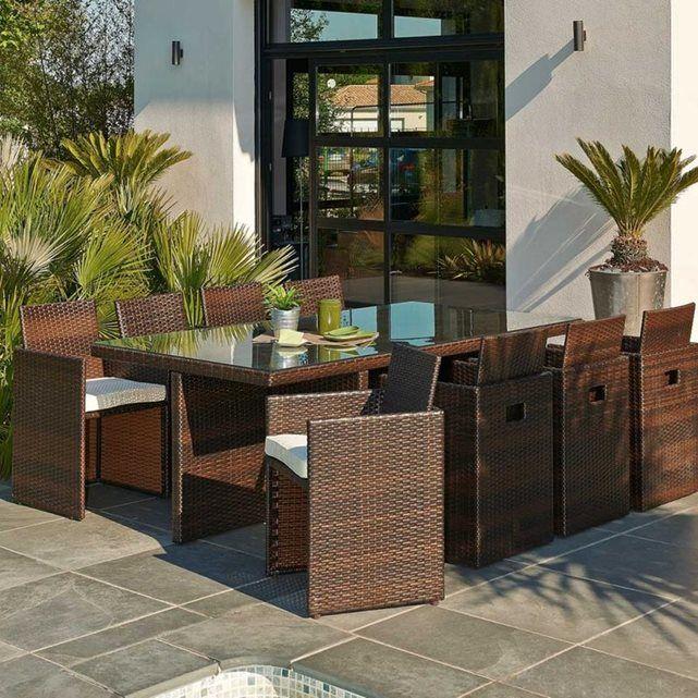 ensemble de jardin encastrable 8 places le reve chez vous en 2019 la redoute outdoor. Black Bedroom Furniture Sets. Home Design Ideas