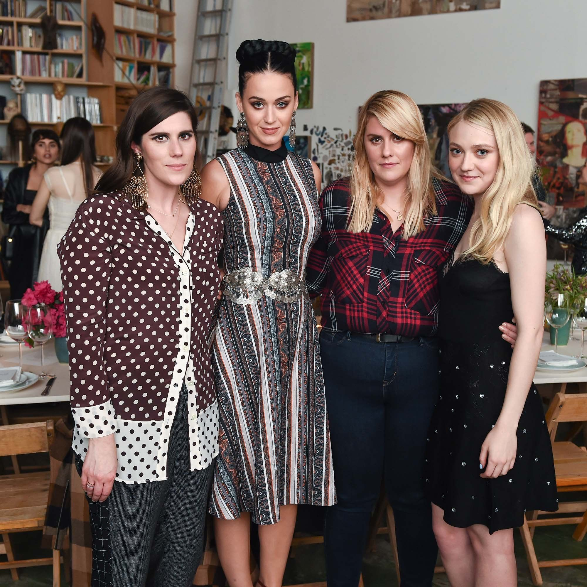 NEWS 17.3.2016....Laura Mulleavy, Katy Perry, Kate Mulleavy, and Dakota Fanning