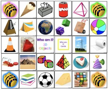BeeBot Who am I 3D Objects/Shapes Mat Objects, Bee bot