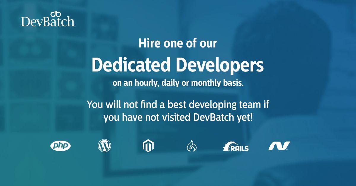 Hire Developer Devbatch Development Software Development Hiring