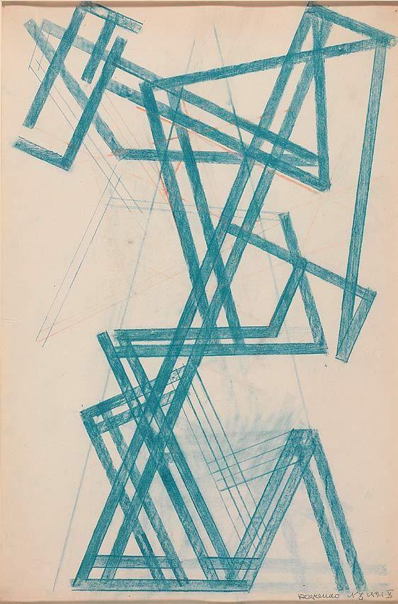 RODCHENKO.-Contsruccion lineal.-1921.-Museo omporaneo de Tesalónica.-Coleccion George Costakis.-elmundo.es
