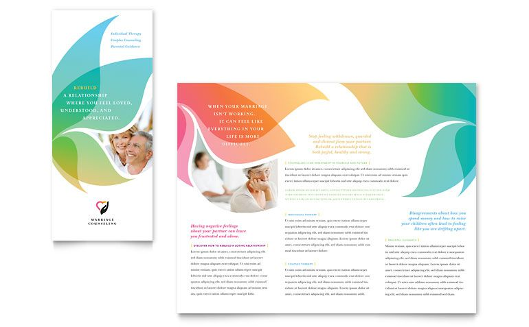 Marriage Counseling Tri Fold Brochure Template Design | Graphic