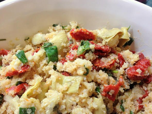 Sun dried tomato artichoke caper quinoa salad from the food forumfinder Image collections