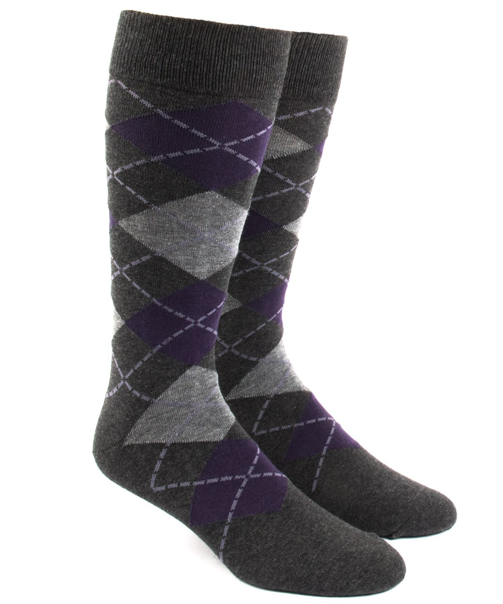 Purple dress socks  Argyle  Charcoal  Tie bow tie Wedding and Weddings