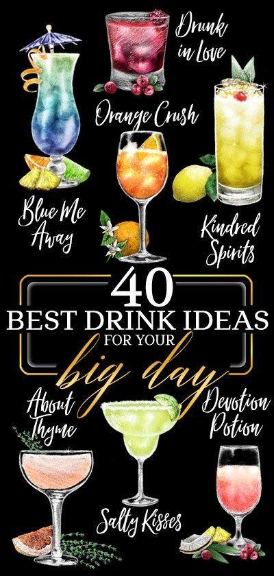 40 Best Wedding Signature Drink Ideas From Rockinchalk