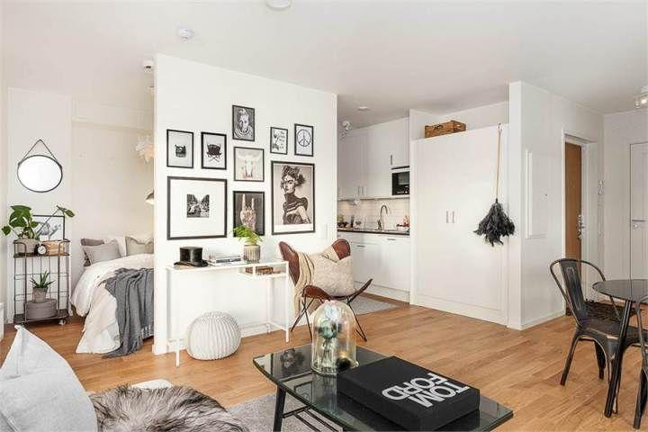Pequeño piso con gran exterior Compact living, Small spaces and