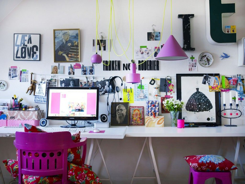 Workspace Home Office Pink Want As An In House