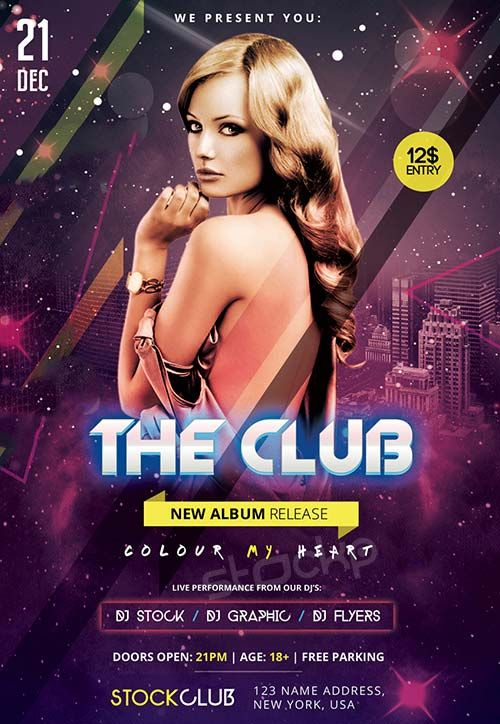 The Club Free Psd Flyer Template Http Freepsdflyer Com The Club Free Psd Flyer Template Enjoy Free Psd Flyer Templates Psd Flyer Templates Free Psd Flyer