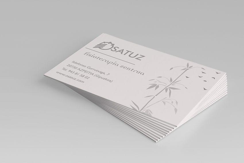 Ejemplo de diseño de tarjetas de visita