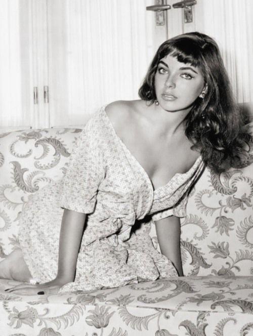 Joan Collins, 1950s  - bangs