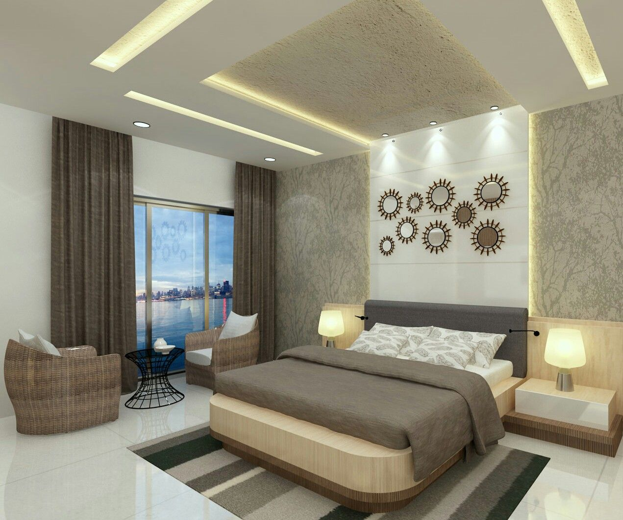 Luxury Bedroom With Elements And Fittings Interior