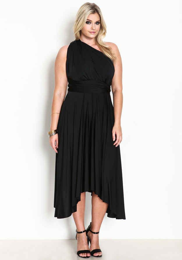 28c1aa6c92305 27 Fabulous Plus Size Little Black Dresses Under  50