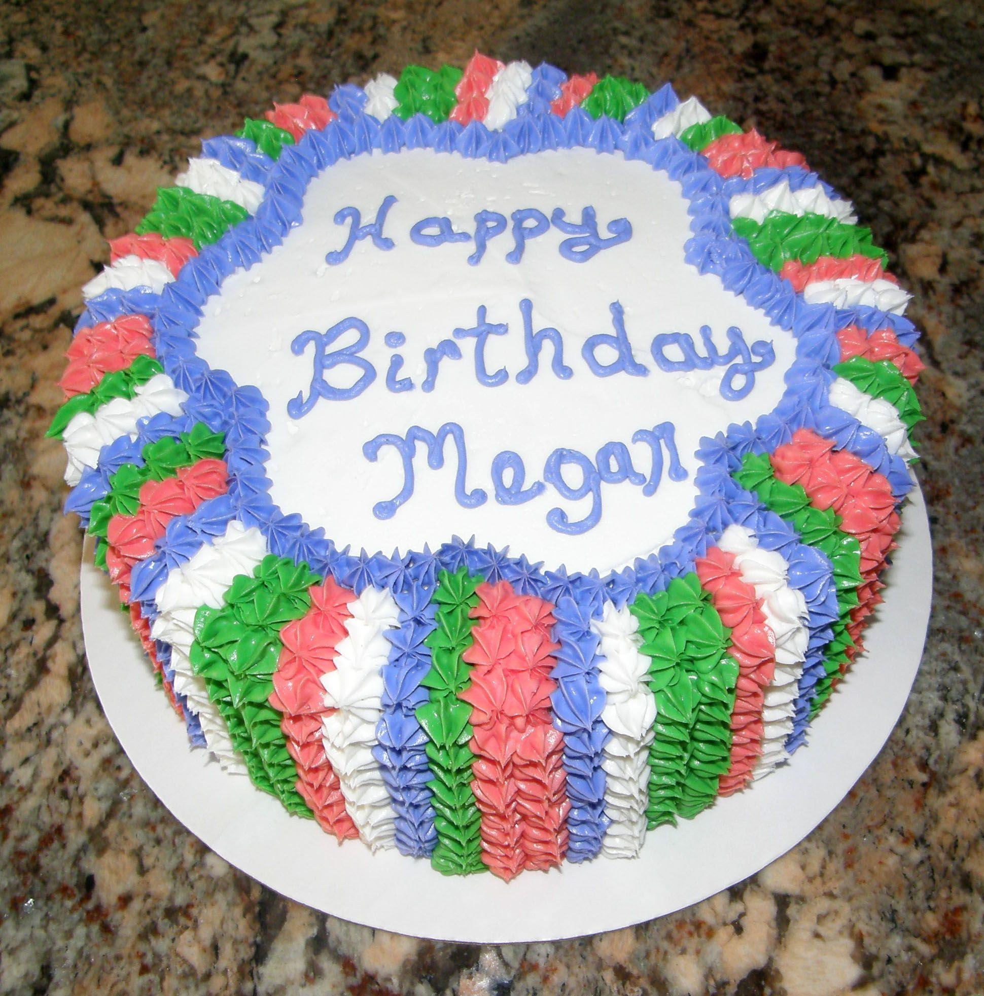 Happy Birthday Megan Cakesbylynn Pinterest Cake Decorating