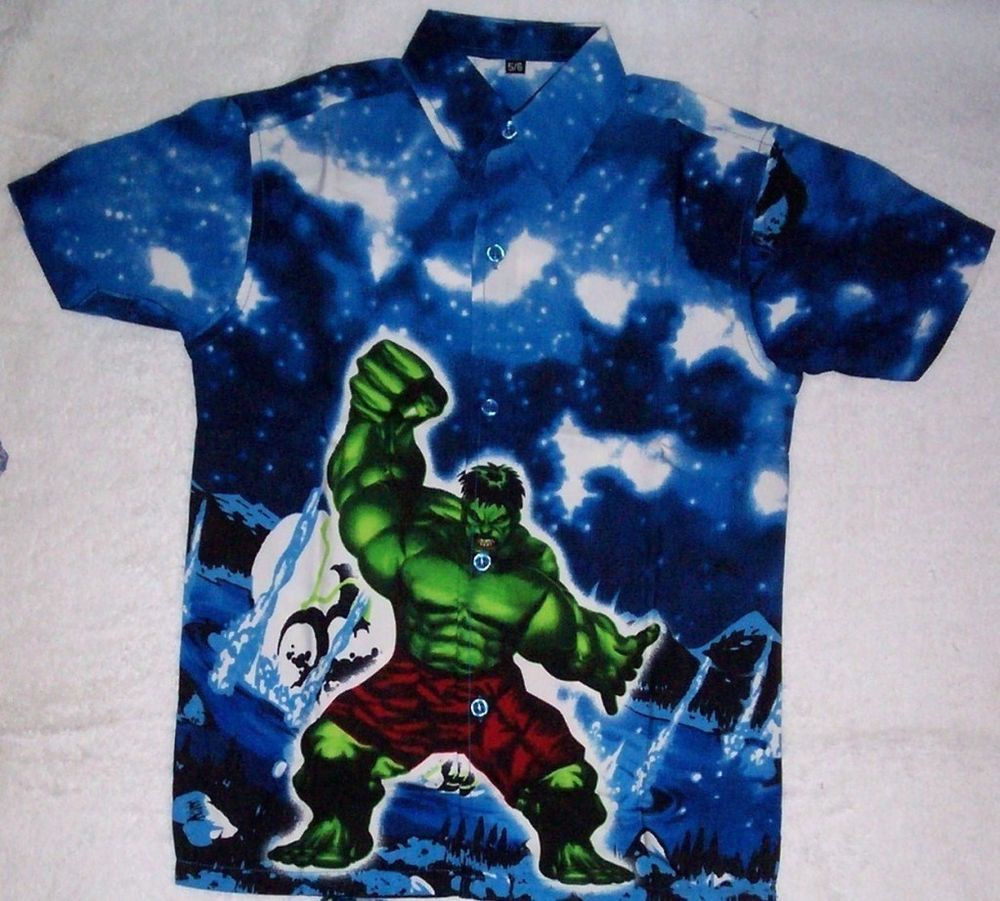 d5d54efc1 INCREDIBLE HULK Boys Summer Shirt - Size 5 - 6 years in Clothes, Shoes &