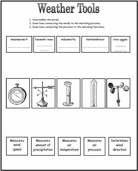 Weather Tools Worksheet This Could Be A Great Worksheet To Use After