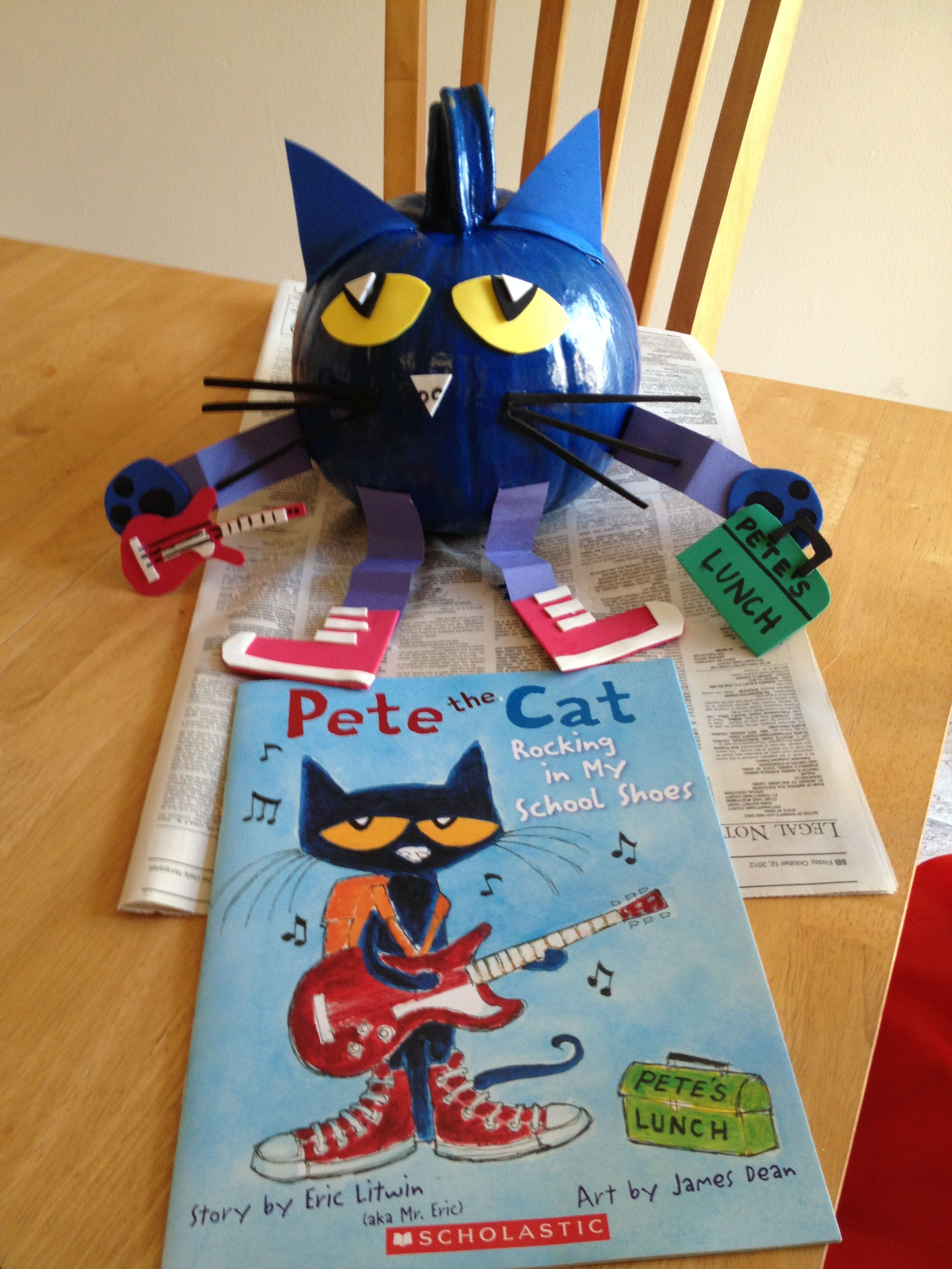 Pete The Cat Pumpkin But Make Into A Ornament For Pete The