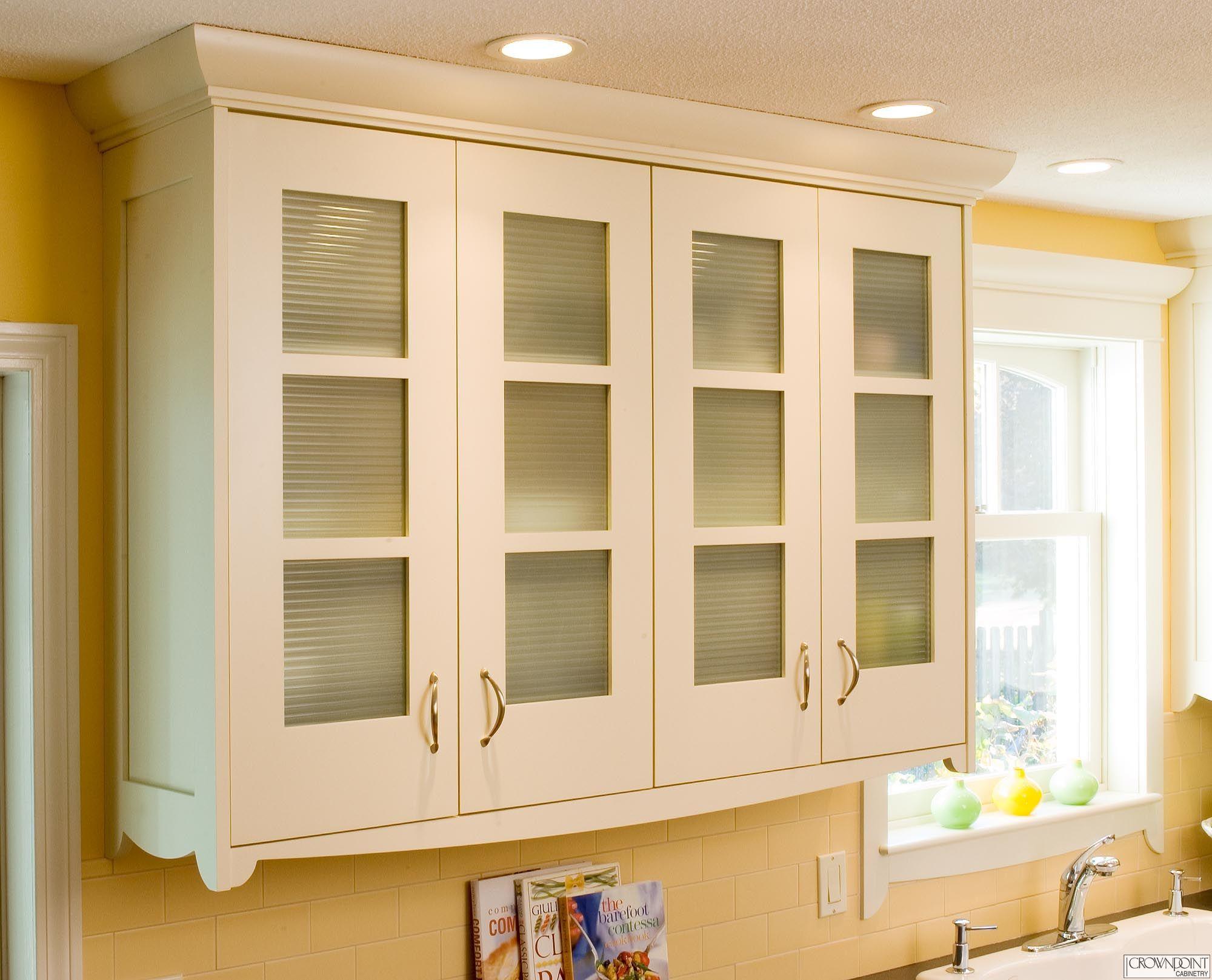 Picture of Creamy Kitchen Glass Door with Metal