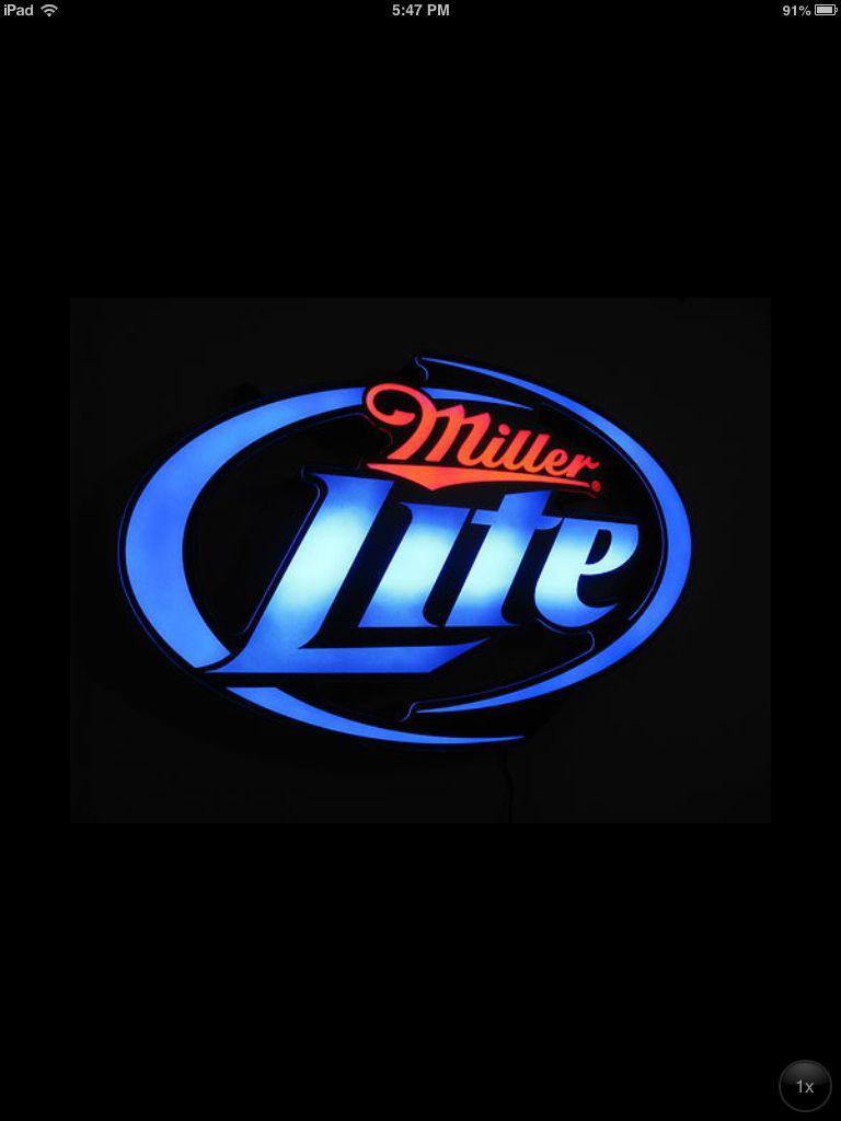 Miller Lite Opti neon sign | Neon signs, Beer memorabilia