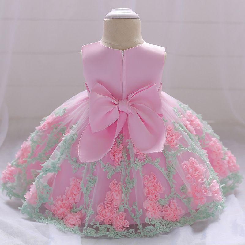 c5942c312 Flower Toddler Baby Girl Infant Princess Dress Baby Girl Wedding ...