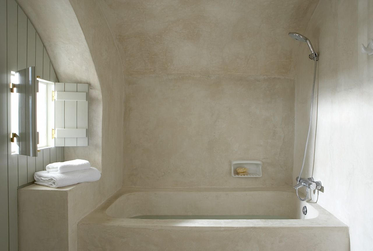 Tadelakt In Badkamer : Gaaf dit stucwerk geeft je badkamer een steenachtige look deco