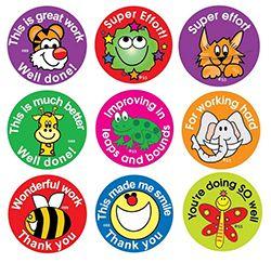 Teacher Stickers- Animal Effort (180 pack)