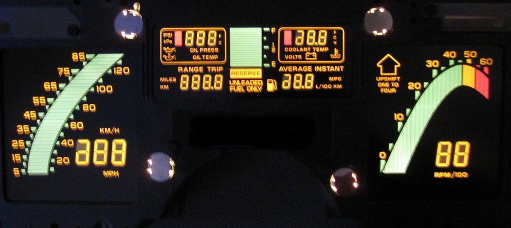1984 84 CORVETTE DIGITAL DASH INSTRUMENT CLUSTER SPEED LED LCD NEW!