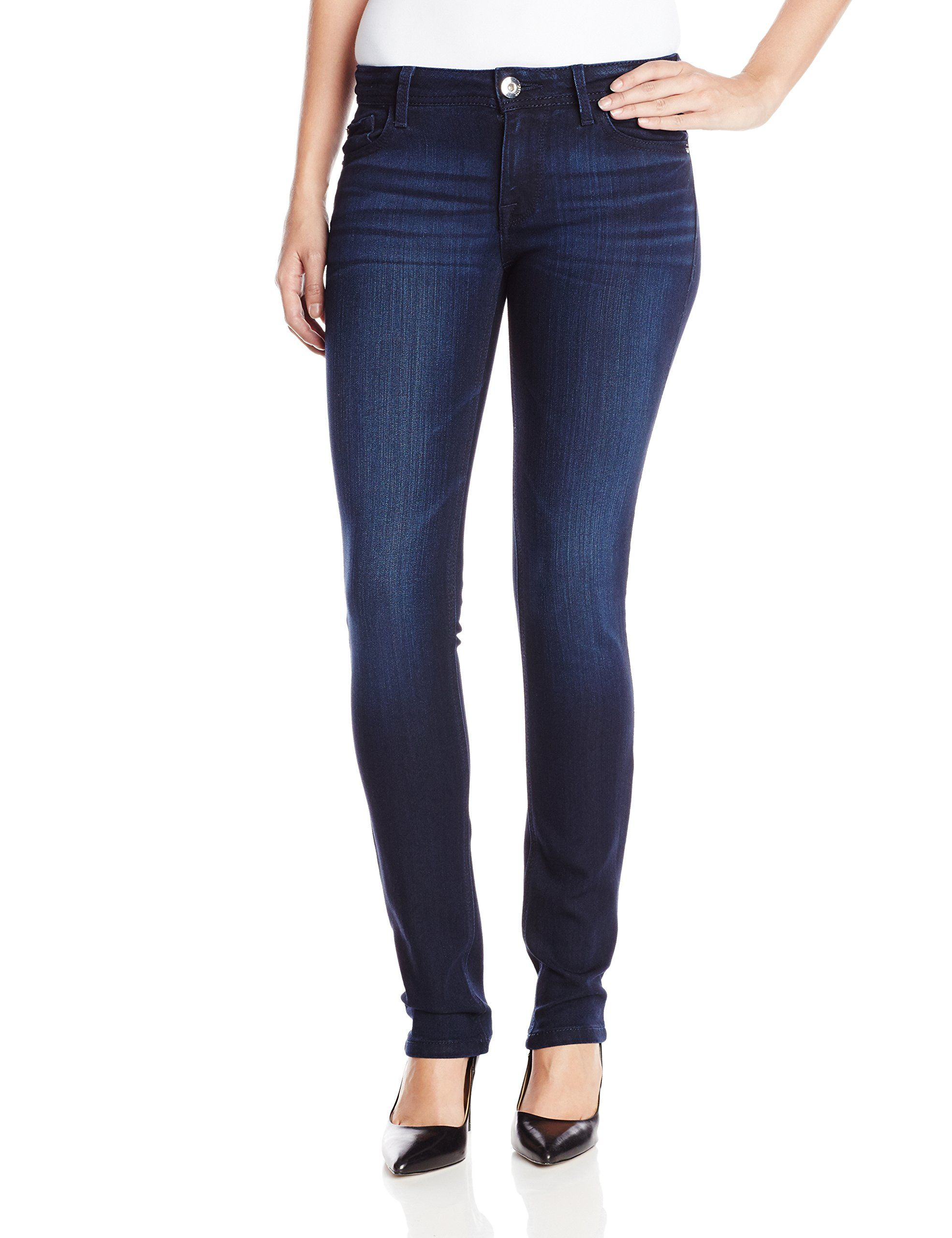 DL1961 Women's Nicky Cigarette Straight Jeans, Wooster, 30. Patented DL-Pro Modal X-Fit fabric. High performance denim with 360 degrees of movement that will never sag, bag or lose its shape.