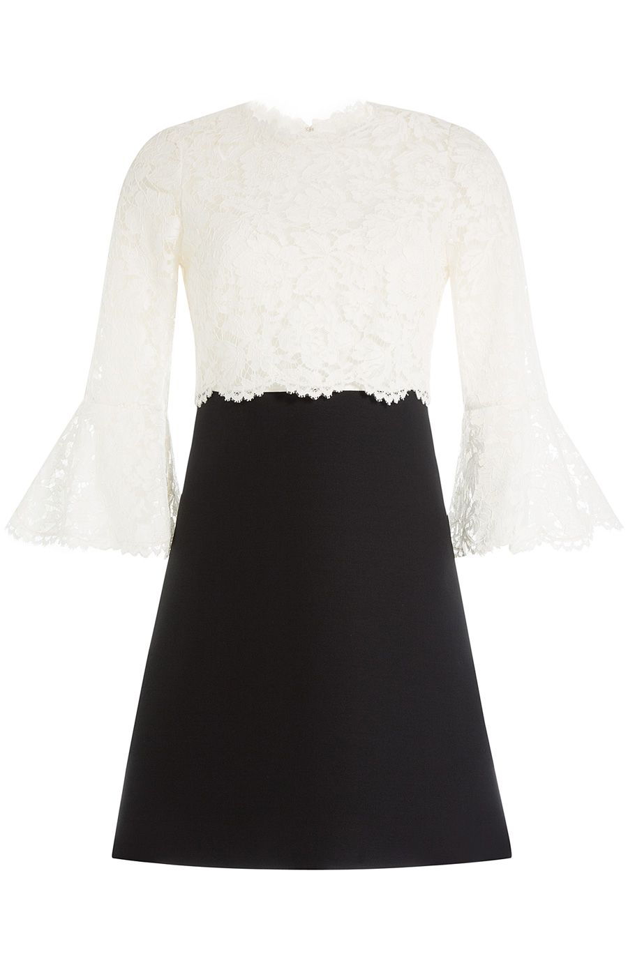 VALENTINO Wool-Silk Lace Cocktail Dress. #valentino #cloth #cocktail & party