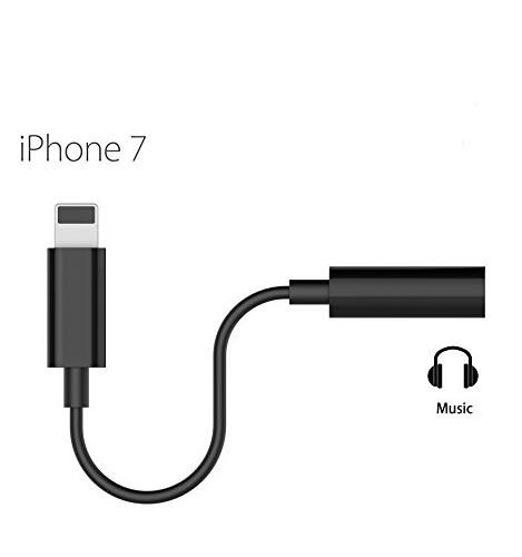 Iphone 7 7 Plus 3 5mm Headphone Jack To Lightning Cable Converter Black Apple Connector Transfer To 3 5mm Tie Line Lightning Cable Black Apple Laptop Screens