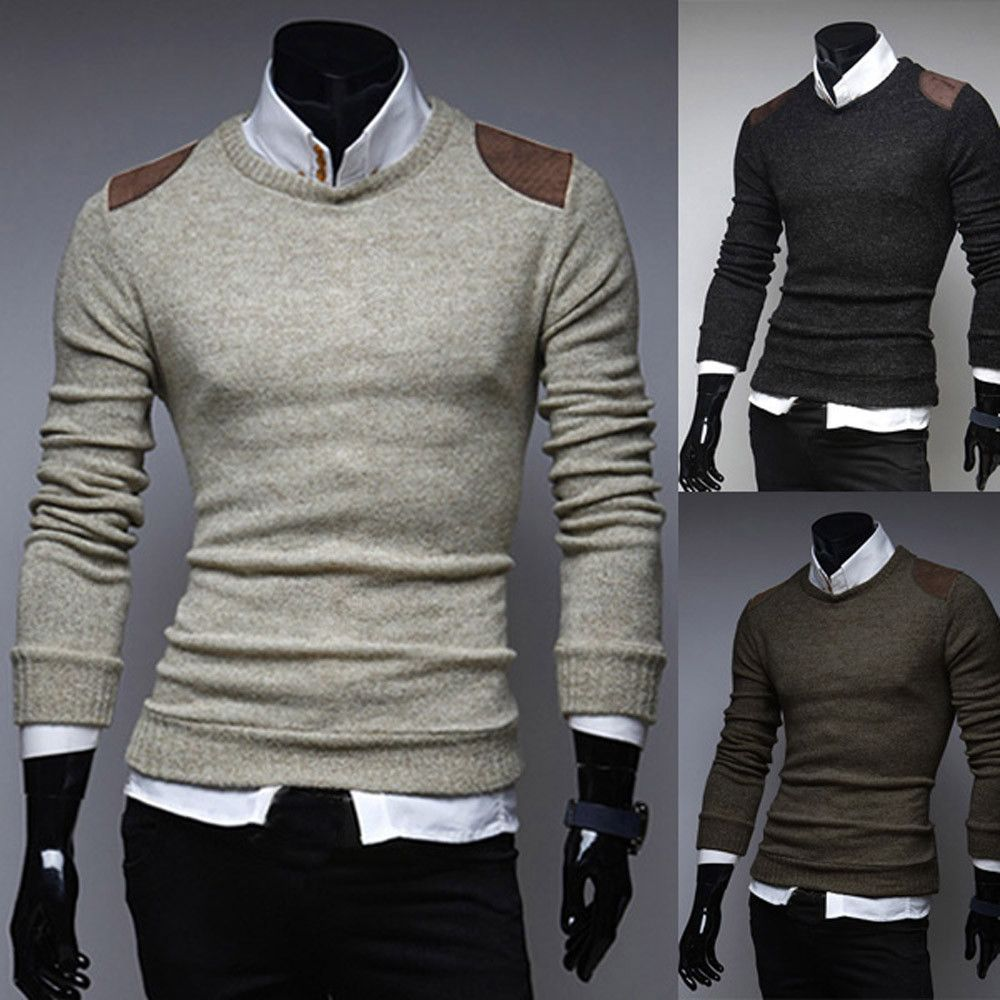 Sweater Men 2017 Fashion Warm Pullovers Fashion Patch Casual ...