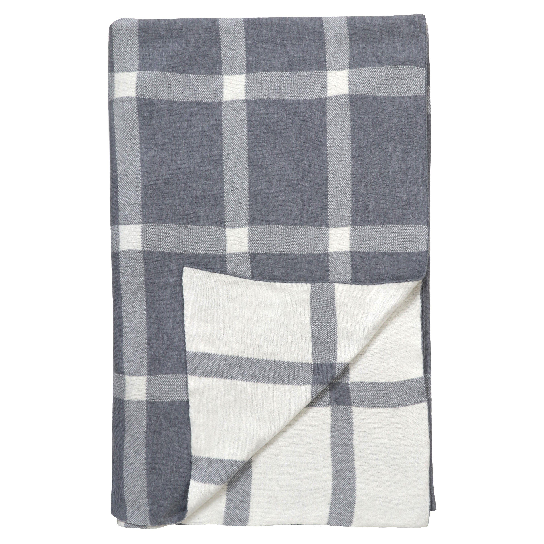 100 Organic Cotton Check Throw Blanket