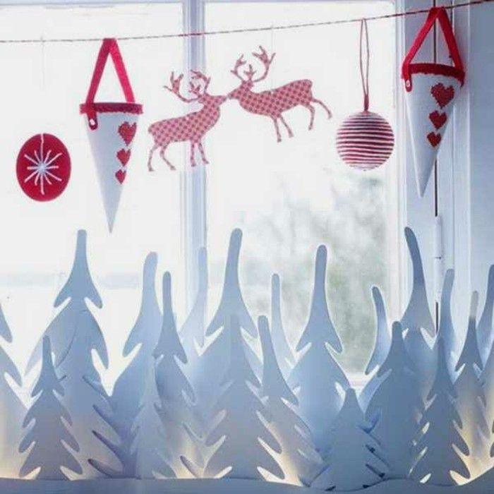 Bezaubernde Winter Fensterdeko zum selber Basteln | Fensterdeko ...