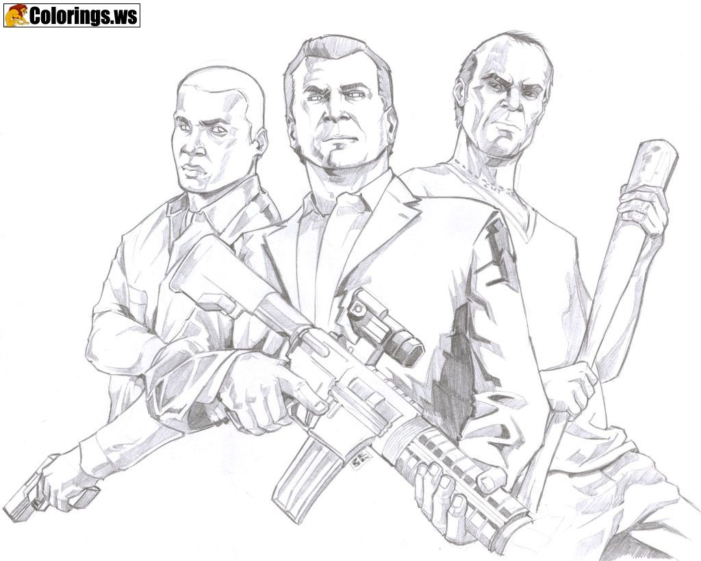 Gta 5 coloring pages for kids gta 5 coloring pages rockstar games had postponed the initially scheduled launch date march 23 for gta 5 premium at