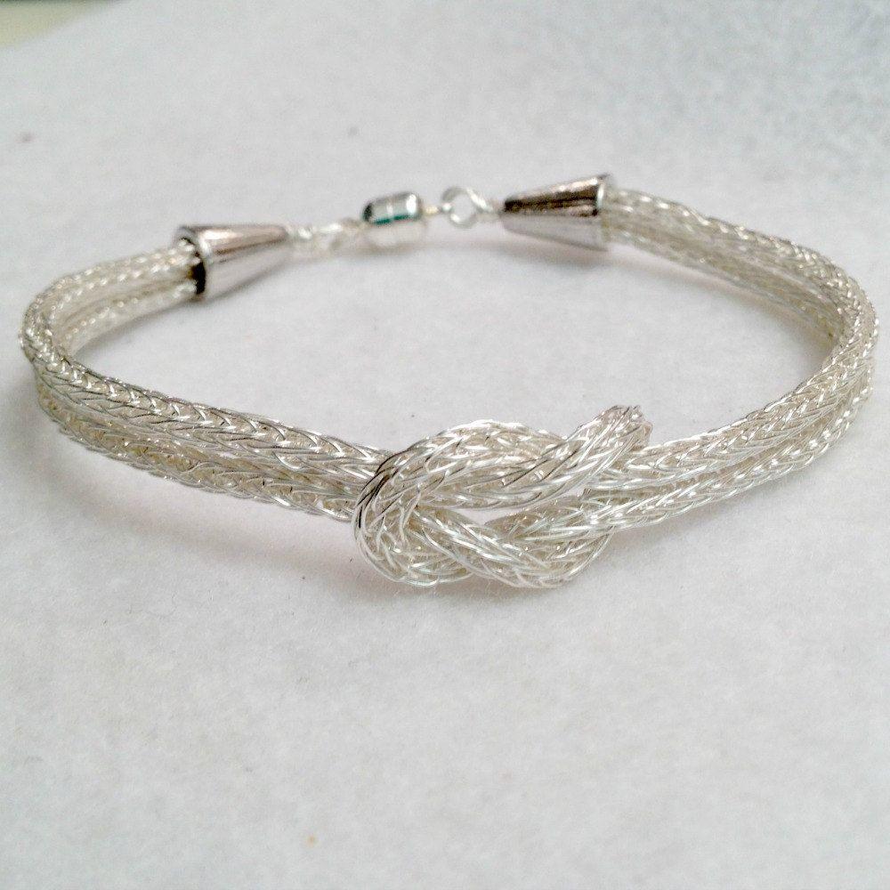 Viking Knit Silver Love Knot bracelet by DonnaDStore on Etsy, $40.00 ...
